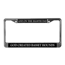8TH DAY Basset License Plate Frame