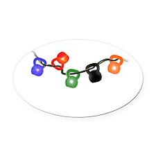 jinglebells4.png Oval Car Magnet