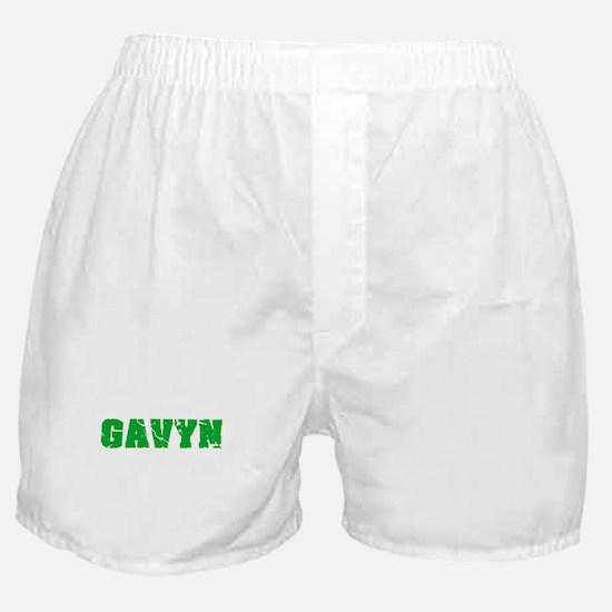Gavyn Name Weathered Green Design Boxer Shorts