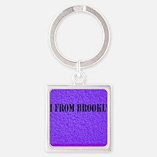 Funny Brooklyn Square Keychain