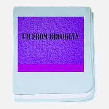 UM FROM BROOKLYN - PURPLE baby blanket