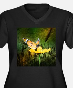 spring daisy yellow butterfly Plus Size T-Shirt