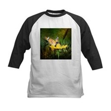 spring daisy yellow butterfly Baseball Jersey