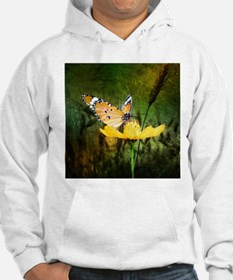 spring daisy yellow butterfly Hoodie