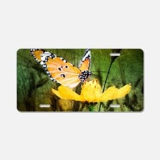 spring daisy yellow butterf Aluminum License Plate
