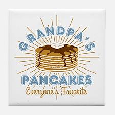 Grandpa's Pancakes Tile Coaster