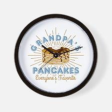 Grandpa's Pancakes Wall Clock