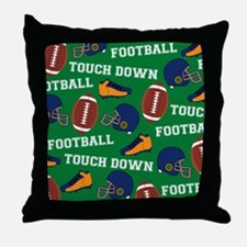 Football Collage Throw Pillow