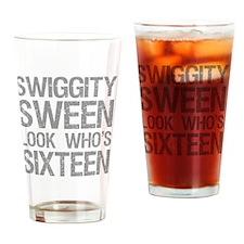 Swiggity 16th Birthday Drinking Glass