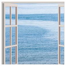 Ocean Scene Window Poster