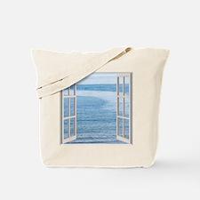 Ocean Scene Window Tote Bag