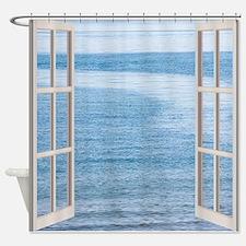 Ocean Scene Window Shower Curtain