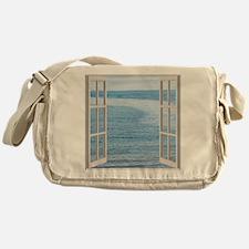 Ocean Scene Window Messenger Bag