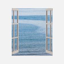 Ocean Scene Window Throw Blanket