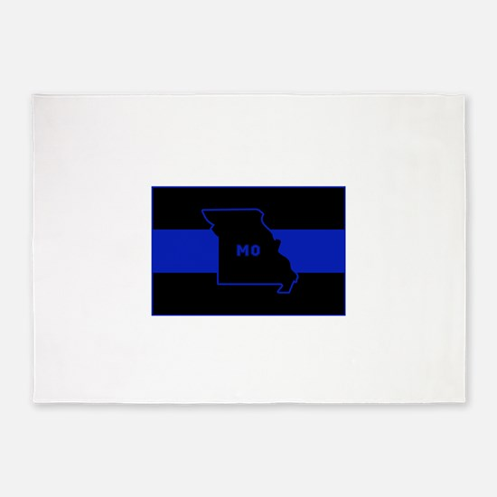 Thin Blue Line - Missouri 5'x7'Area Rug