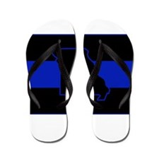 Thin Blue Line - Missouri Flip Flops