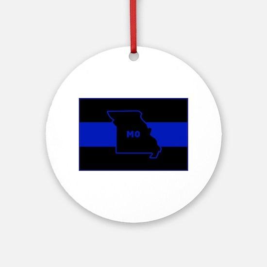 Thin Blue Line - Missouri Round Ornament