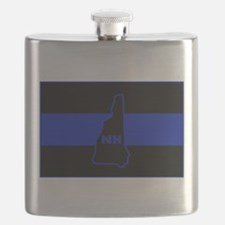 Thin Blue Line - New Hampshire Flask