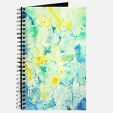 Abstract Watercolor Green and blue Pattern Journal