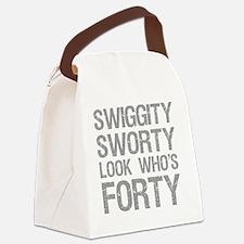 Swiggity 40th Birthday Canvas Lunch Bag