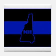 Thin Blue Line - New Hampshire Tile Coaster