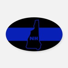 Thin Blue Line - New Hampshire Oval Car Magnet