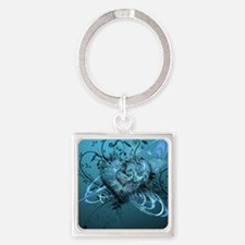 Blue Desire-Forever Love Square Keychain