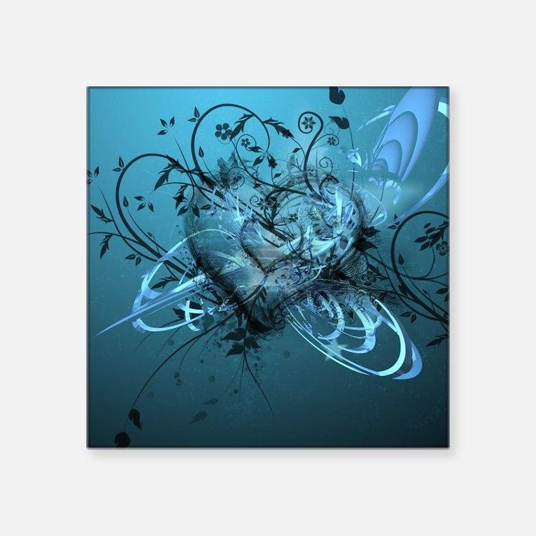 """Blue Desire-Forever Love Square Sticker 3"""" x 3"""""""
