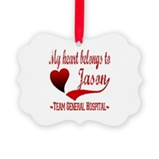My Heart Belongs To Jason Picture Ornament