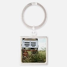Cute Gas station Square Keychain