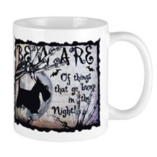 Beware Halloween Scottie Mugs