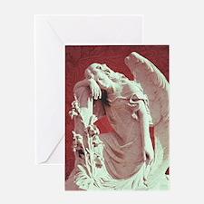 vintage Memorial gothic angel Greeting Cards