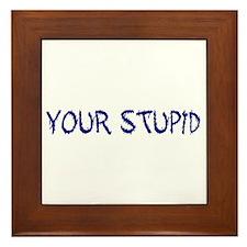 Your Stupid Framed Tile