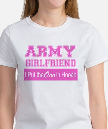 Army Girlfriend Ooo in Hooah_Pink T-Shirt