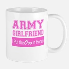 Army Girlfriend Ooo in Hooah_Pink Mugs