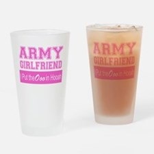 Army Girlfriend Ooo in Hooah_Pink Drinking Glass