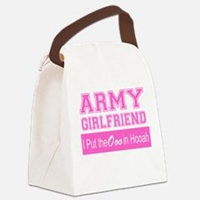 Army Girlfriend Ooo in Hooah_Pink Canvas Lunch Bag