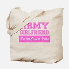 Army Girlfriend Ooo in Hooah_Pink Tote Bag