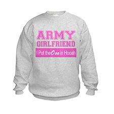Army Girlfriend Ooo in Hooah_Pink Sweatshirt