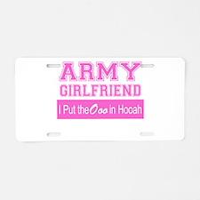Army Girlfriend Ooo in Hooah_Pink Aluminum License