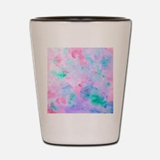 Watercolor Abstract pattern blue green  Shot Glass