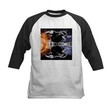 haunted flames gothic crow Baseball Jersey