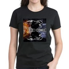 haunted flames gothic crow T-Shirt