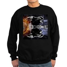 haunted flames gothic crow Sweatshirt