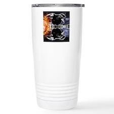 haunted flames gothic c Travel Mug