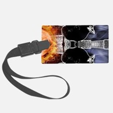 haunted flames gothic crow Luggage Tag