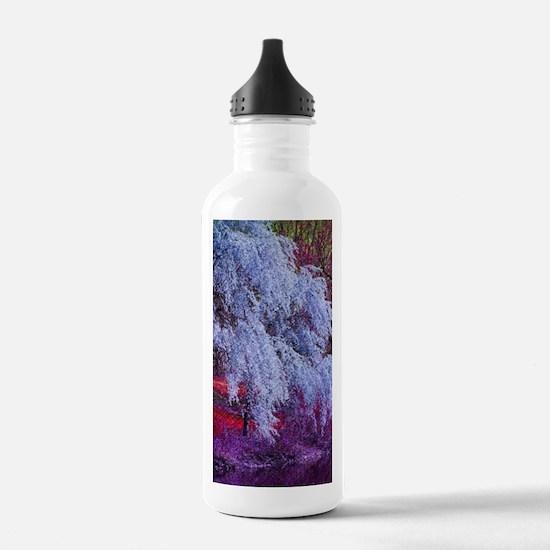 landscape purple cherr Water Bottle