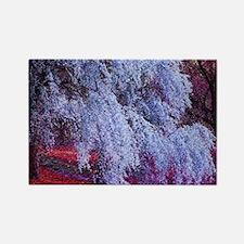 landscape purple cherry blosso Magnets