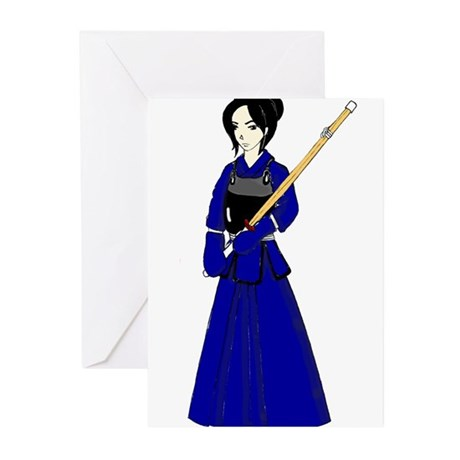 Kendo Girl Greeting Cards (Pk of 10)