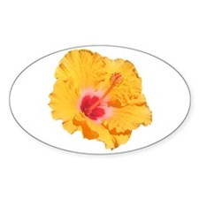 hibiscus orange Decal
